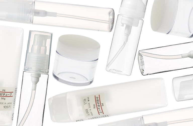 Muji Travel Bottles & PP Cases - Image from getthegloss.com