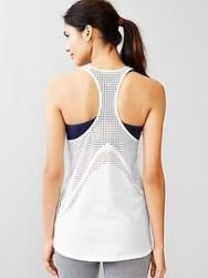 Gap Athleta mesh white tank top