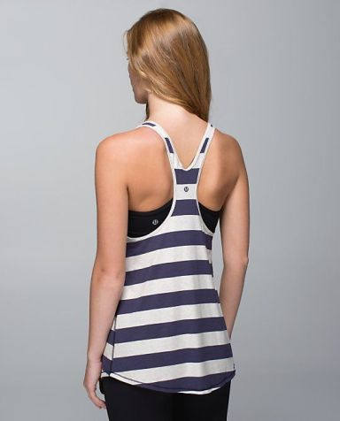 Cottom Lululemon Tank in navy and organic white